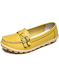 Womens Casual Leather Loafers Driving Moccasins Flats Shoes