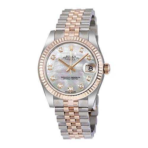 Rolex Datejust Lady 31 White Mother of Pearl Dial Stainless Steel and 18K Everose Gold Jubilee Bracelet Automatic Watch 178271MDJ from Rolex
