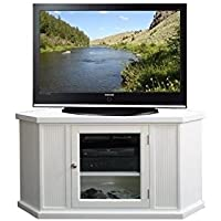 Bowery Hill 46 Corner TV Stand in White Finish