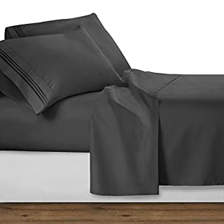 Clara Clark 4 Piece Sheet Set Deep Pocket Brushed Microfiber 1800 Bedding Hypoallergenic, Wrinkle, Fade & Stain Resistant, Queen Size, Charcoal Gray (B00902X93E) | Amazon Products