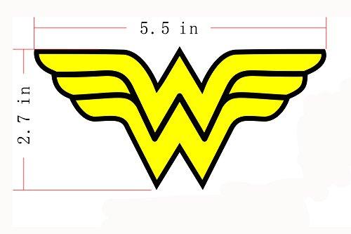 Wonder Woman Iron On Sew On Patch - WW Yellow Letter Name Logo Applique 5.5