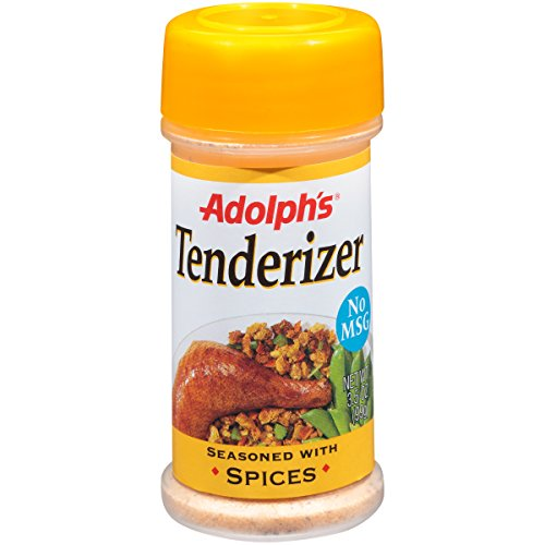 Adolph's Seasoned Meat Tenderizer, 3.5 oz, Unique Blend of Turmeric, Onion, Garlic, Sugars, Sea Salt and Pineapple Extract, Bake, Broil or Grill Meats to Perfection (Pack of 6) Review