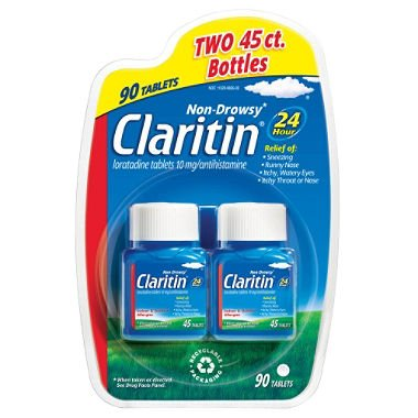 Claritin 24 Hour Non-Drowsy Allergy Relief 10mg Tablets 2x 90ct