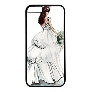 Unique Design Case for iphone 6,Fashion Black Plastic Case Back Cover for iPhone 6 with the Girl in the Veil