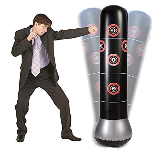 Koreyoshi フィットネス パンチバッグ ヘビーパンチバッグ キックトレーニング 空気注入式 パンチングタワーバッグ 自立タンブラー コラムサンドバッグ 子供 フィットネス スポーツ プレイ 大人 ストレス解消 ボクシングターゲット スタイル1