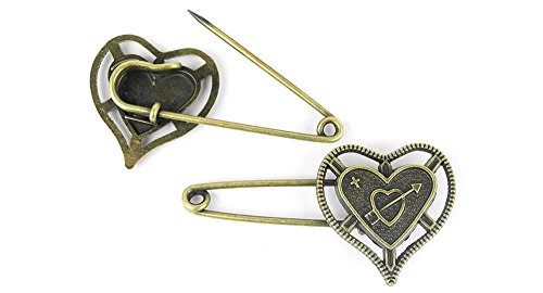 1x Anti-Brass Fashion Jewelry Making Charms A15550 Love Pin Brooch Wholesale Supplies Pendant Retro DIY Craft Alloys Lots Repair Jewellery Findings