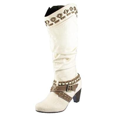 Tamaris 25562 Damen Stiefel Lederimitat, Offwhite, Größe 38