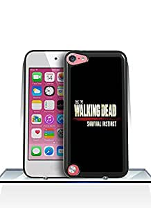 Itouch 5Th Funda Case- Plastic Hard Quote The Walking Dead Logo [Perfect Fit] & [Shock-Absorption] Ipod Touch 5Th Funda Case For The Girls