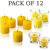 Set of 12 Votive Citronella Candles - Summer Scented Candles Scare Away Mosquito, Bug and Flies- for Indoor/Outdoor Use…