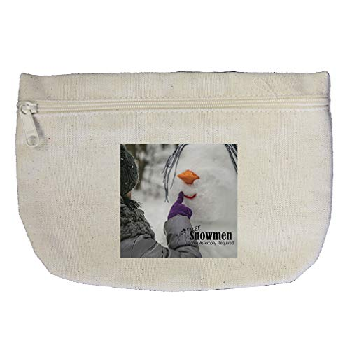 Making Snowman In Ice Some Assembly Is Required Cotton Canvas Makeup Bag
