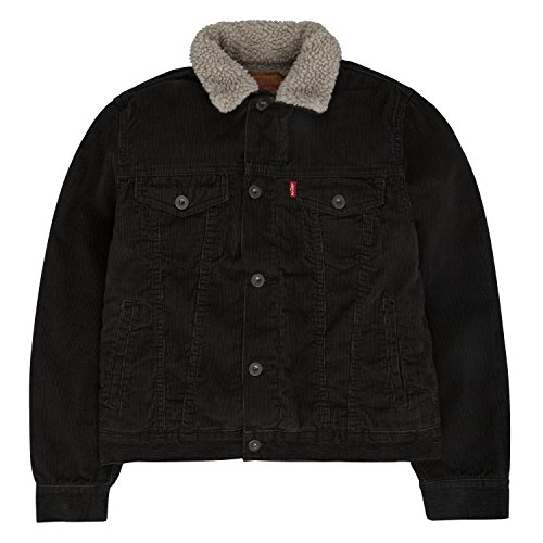 Levi's Big Boys' Sherpa Jacket, Graphite, (Boys Trucker Jacket)