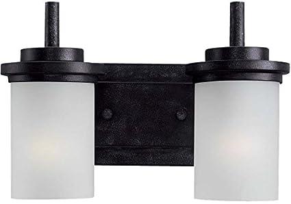 Seagull Two Light WallBath Vanity Lighting Fixtures - Seagull bathroom lighting