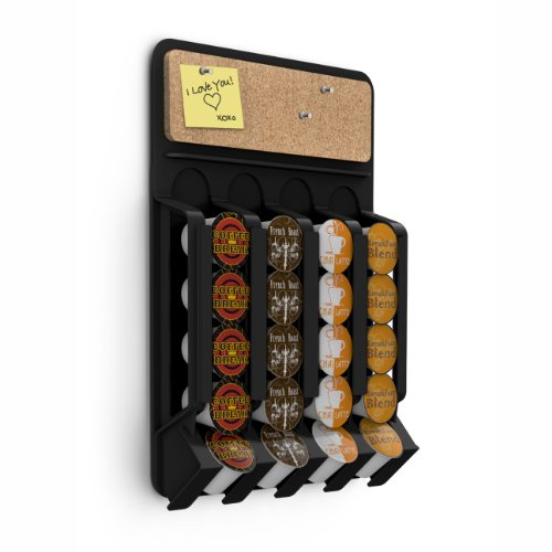 Fridge,Wall-Mount K-Cup Single Serve Coffee Pod Dispenser with Cork Top, Black ()
