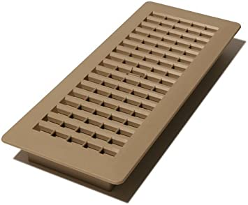 Decor Grates PL412-TA 4-Inch by 12-Inch Plastic Floor Register ...