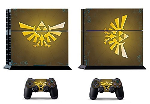 2612 Game Room® : Playstation 4 Console Skin & Remote Controllers Skin - Zelda Golden By Asia Trendy Shop