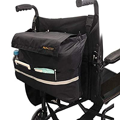 Wheelchair Bag for Back of Chair Universal Fit   Premium High Density Nylon Straps   Travel Messenger Backpack for Men Woman Handicap & Elderly   Easy Access Large Pockets   Wheelchair Accessories