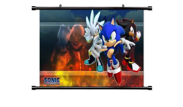 Amazon Com Sonic The Hedgehog Game Fabric Wall Scroll Poster 32 X 18 Inches Prints Posters Prints