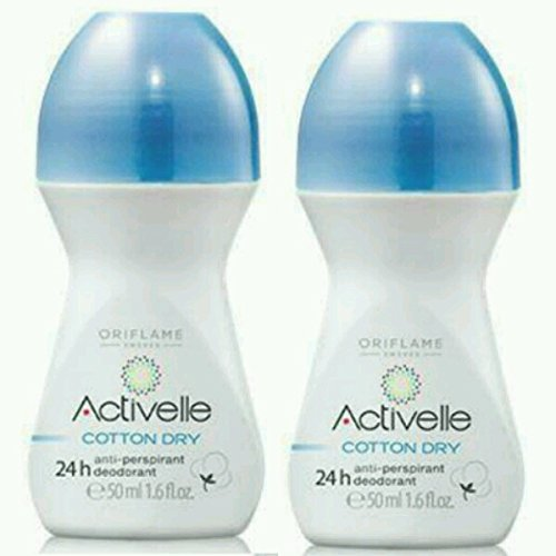 Oriflame Activelle Anti-Perspirant 24h Deodorant Cotton Dry(pack of 2)each 50ml