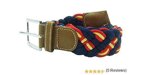 Pi2010 Cinturón marino trenzado con bandera de España, 100CM: Amazon.es: Ropa y accesorios