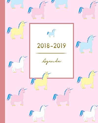 Agenda 2018-2019: Agenda Scolaire, Aot 2018  Juillet 2019,  licorne mignonne, Agenda semainier simple 20 x 25 cm (S'organiser au quotidien) (French Edition)