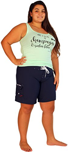 Maui Mermaid Womens Plus Size Shorts Boardshorts (3X, Navy) - Maui Boards