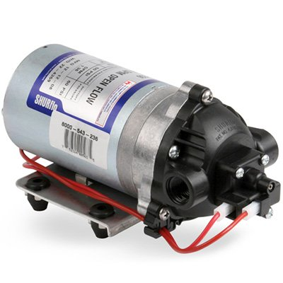 Pentair SHURflo 8000-543-236 Automatic-Demand Diaphragm Pump, 1.8 GPM With Viton Valves, Santoprene Diaphragm, 50 PSI Demand Switch, 12V, 3/8'' NPT Female Port by SHURFLO