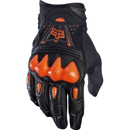 Fox Racing 2019 Bomber Gloves (MEDIUM) (BLACK/ORANGE)