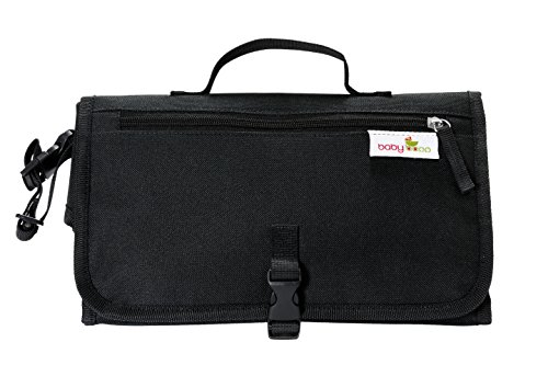 Baby Bopp Changing Station Black: Foldable Changing Pad – Portable Diaper Travel Kit – Diaper Bag Alternative for Moms and Dads on the ()