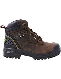 Assure Men 6 in. Size 8 Brown Leather Steel Toe Waterproof Work Boot