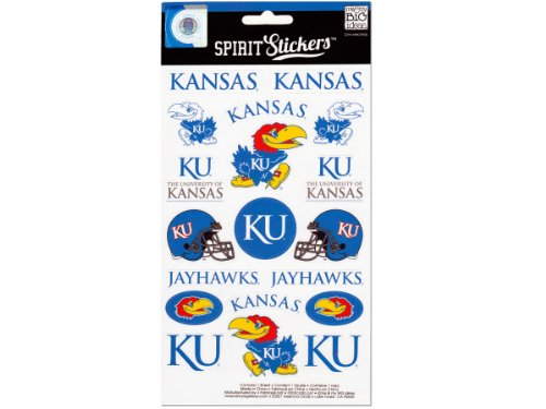 me & my BIG ideas Officially Licensed NCAA Spirit Stickers, Kansas ()