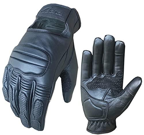aaaSports Motorradhandschuhe Leder atmungsaktiv Touchscreen Fahrradhandschuhe Professionelle Anti-Rutsch MTB Handschuhe…