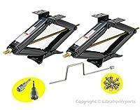 "Set of 2 5000 lb 24"" RV Trailer Stabilizer Leveling Scissor Jacks w/handle"