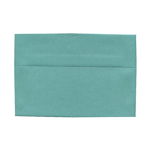 (JAM PAPER A6 Metallic Invitation Envelopes - 4 3/4 x 6 1/2 - Lagoon Blue Stardream - 25/Pack)