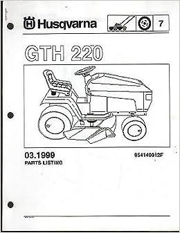 1999 Husqvarna Gth 220 Riding Lawn Garden Tractor Mower