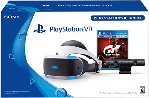 "Playstation VR & Gran Turismo Sport Bundle | Advanced VR Display | 3D Audio Technology | 5.7"" OLED 1080p Display 
