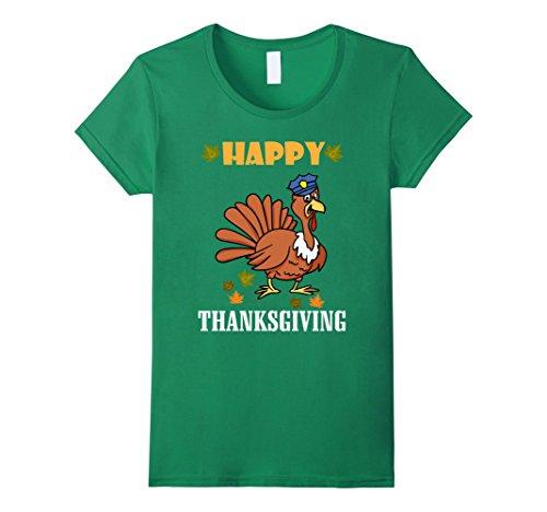 Womens Bailiff Turkey Costume Happy Thanksgiving Funny T-Shirt Large Kelly Green - Bailiff Costume