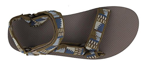 Teva Men's Original Universal Sports and Outdoor Lifestyle Sandal olive brown blue old57fo