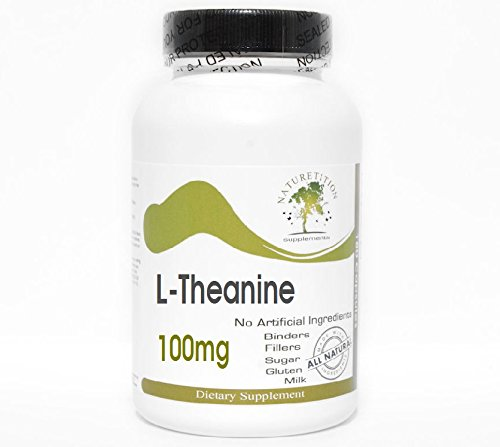 L-Theanine 100mg ~ 180 Capsules - No Additives ~ Naturetition Supplements