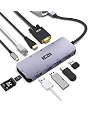 ICZI Hub USB C Aluminio 10 EN 1