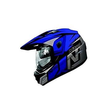 Amazonfr Nitro Mx670 Podium Adventure Casque De Moto Noirbleu