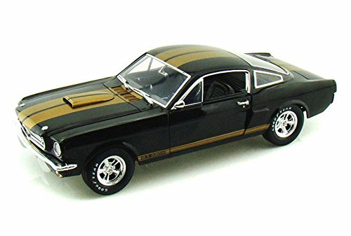 1966 Ford Shelby GT 350H #14, Black w/ Gold - Shelby Collectibles SC360BK - 1/18 Scale Diecast Model Toy Car