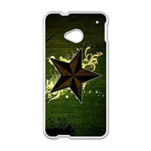 Happy Duck Green Star Custom Protective Hard Phone Cae For HTC One M7