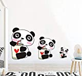 lovely nba wall decals HSQMM Cartoon Panda Color Wall Stickers for Kids Rooms Baby Nursery Lovely Animals Wall Decals Sticker Mural Art Home Decor