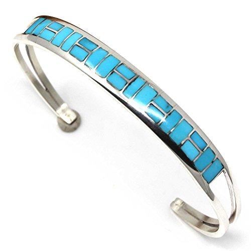 L7 Enterprises Zuni Channel Inlay Turquoise Bracelet