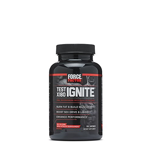 Test X180 Ignite Free Testosterone Booster to Increase Sex Drive & Libido, Burn Fat, Build Lean Muscle