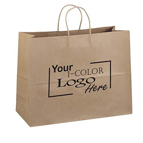 "Flexicore Packaging 16""x6""x12"" - 100 Pcs - Brown Kraft Paper Bags, Shopping, Merchandise, Party, Gift Bags"
