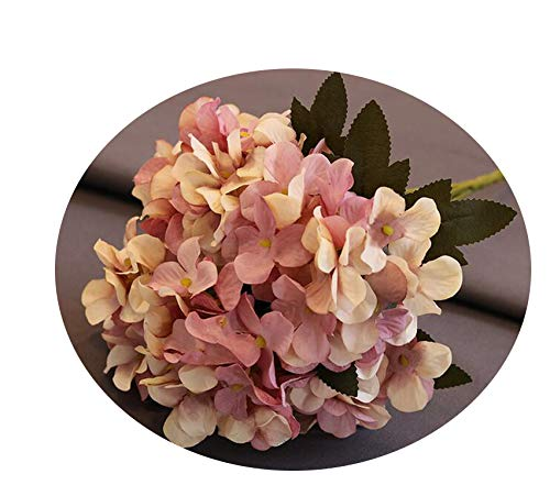 Endand Artificial Flowers Silk Hydrangea Retro Fake Flowers for Wedding Party Home Decor DIY Silk Flowers,Purple Pink ()