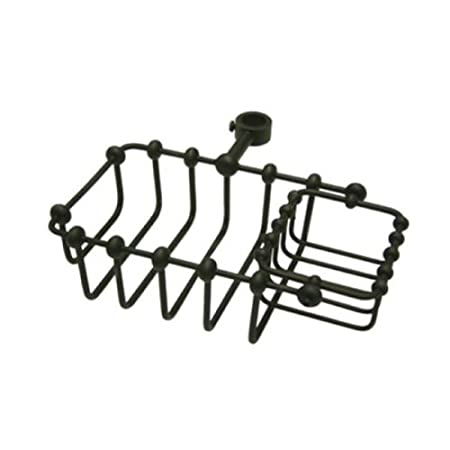 Kingston Brass CC2145 7-Inch Riser Mount Soap Basket for Clawfoot Tubs Oil Rubbed Bronze