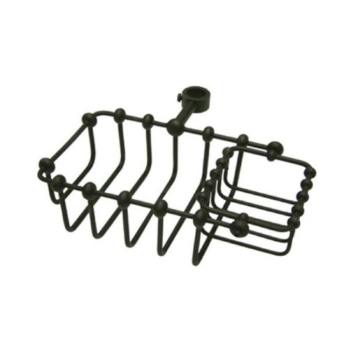 Kingston Brass CC2145 7-Inch Riser Mount Soap Basket for Clawfoot Tubs, Oil Rubbed Bronze