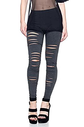 J2 LOVE Made in USA Ripped Stretch Jersey Legging (also in Plus) at